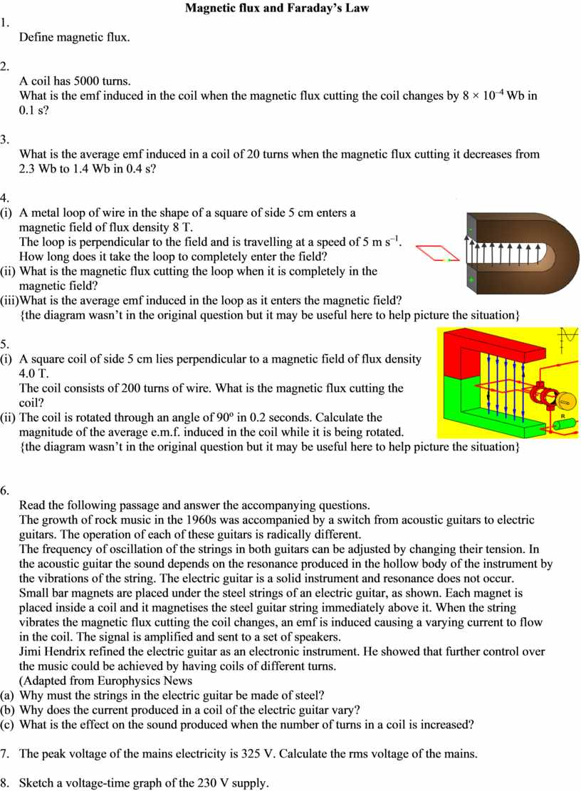 Magnetic flux and Faraday's Law 1