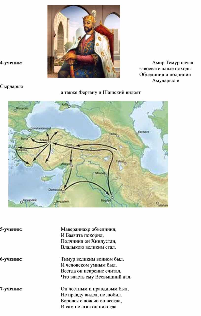 Амир Темур начал завоевательные походы