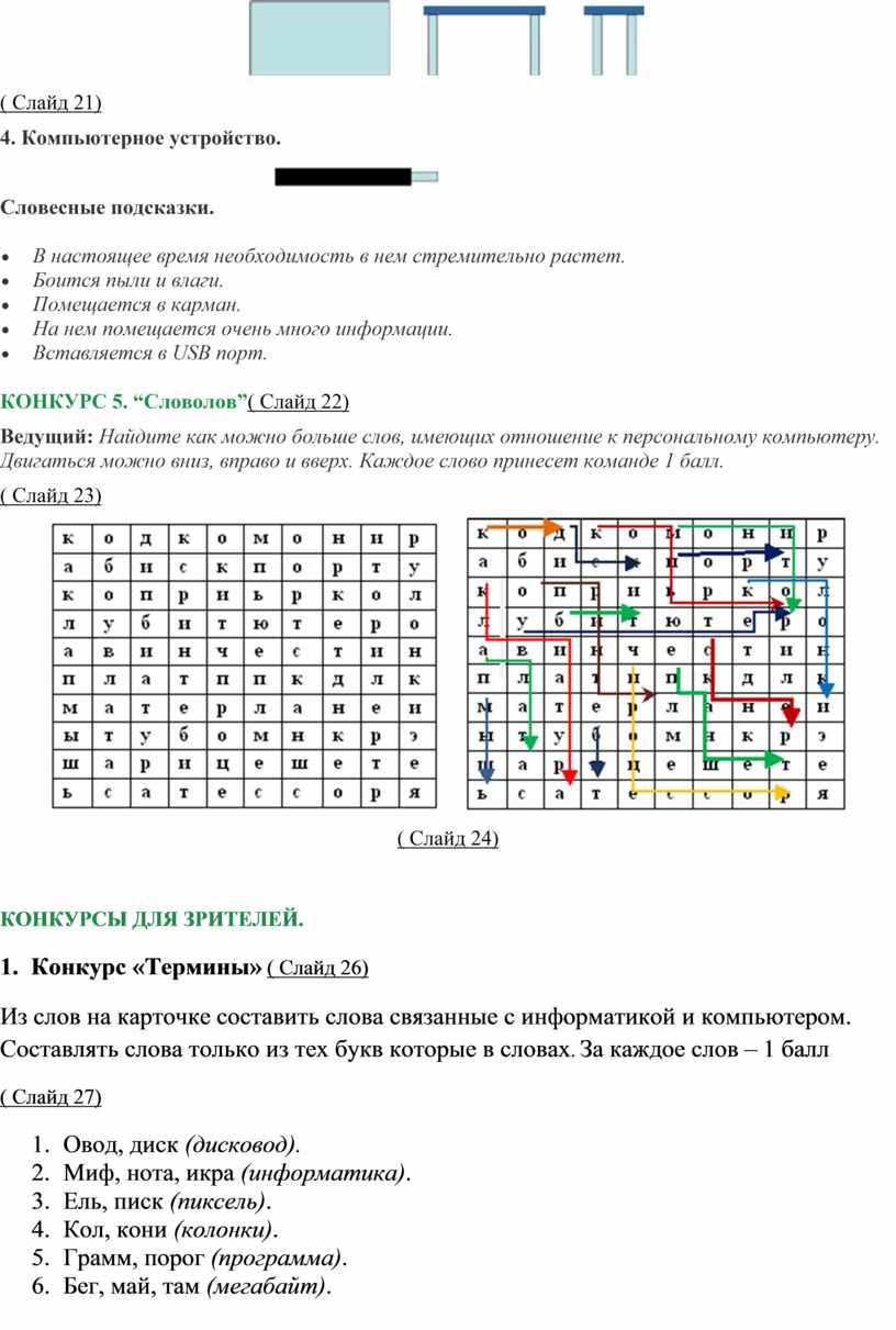 Слайд 21) 4. Компьютерное устройство