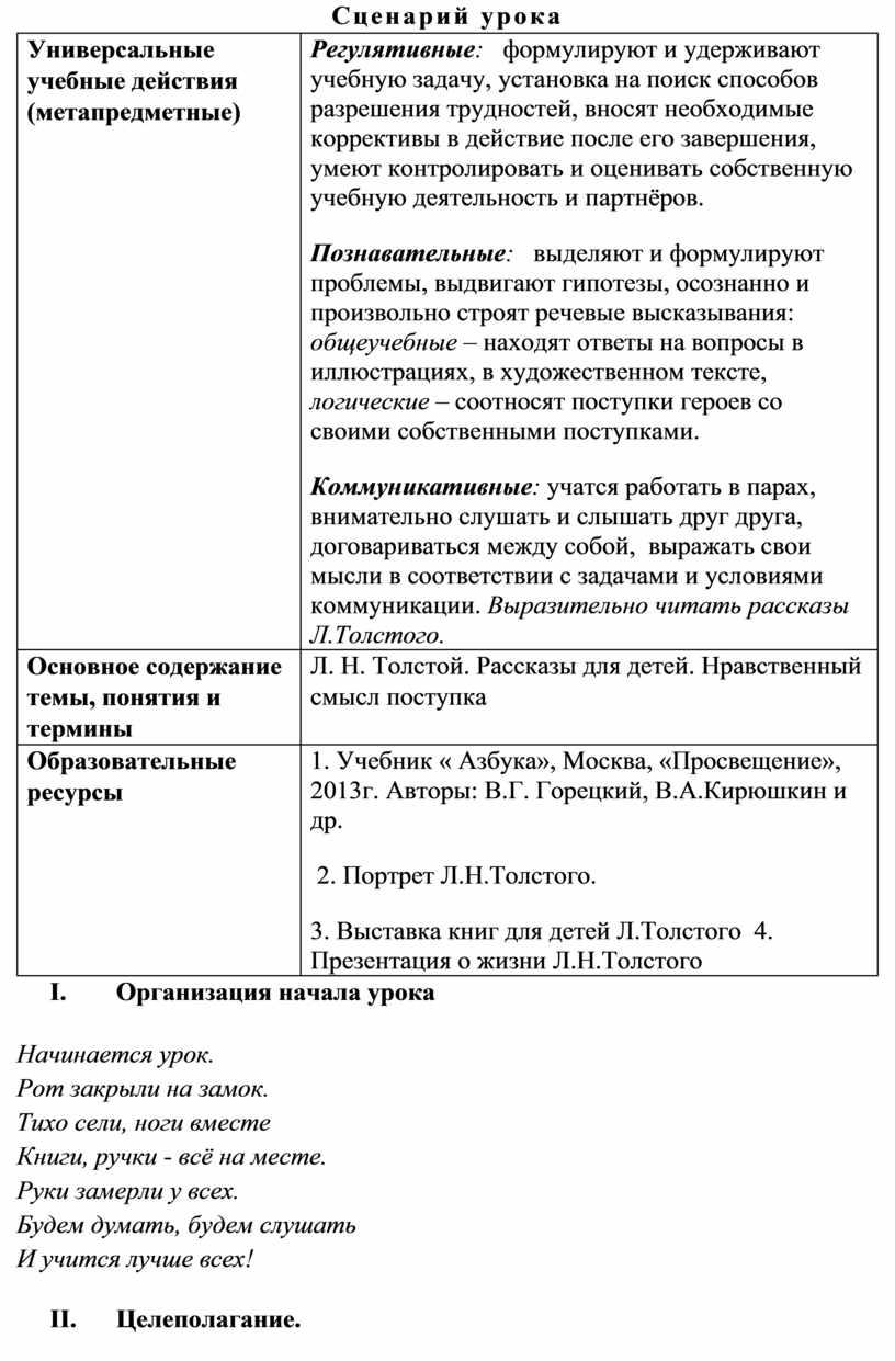 Универсальные учебные действия (метапредметные)