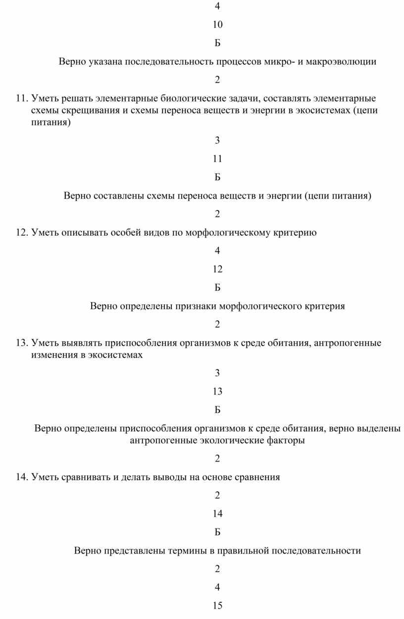 Б Верно указана последовательность процессов микро- и макроэволюции 2
