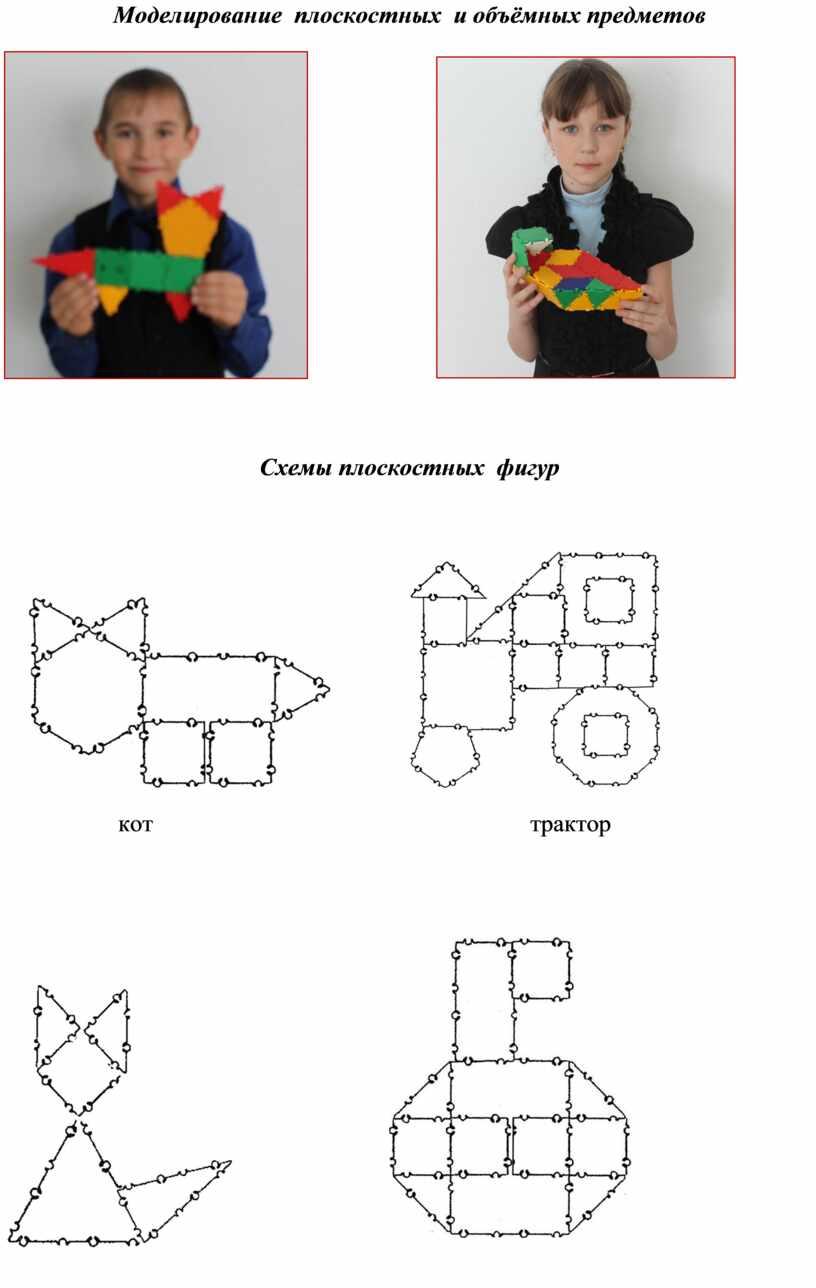 Моделирование плоскостных и объёмных предметов