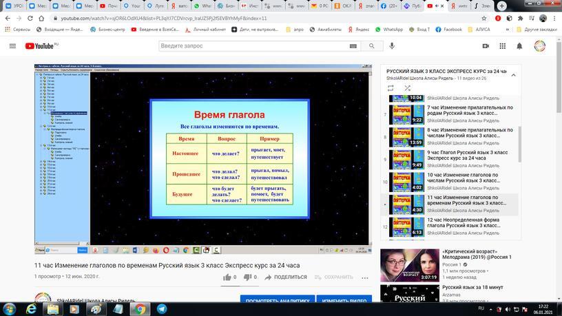 11 час. Изменение глаголов по временам. Русский язык 3 класс. Экспресс курс за 24 часа.