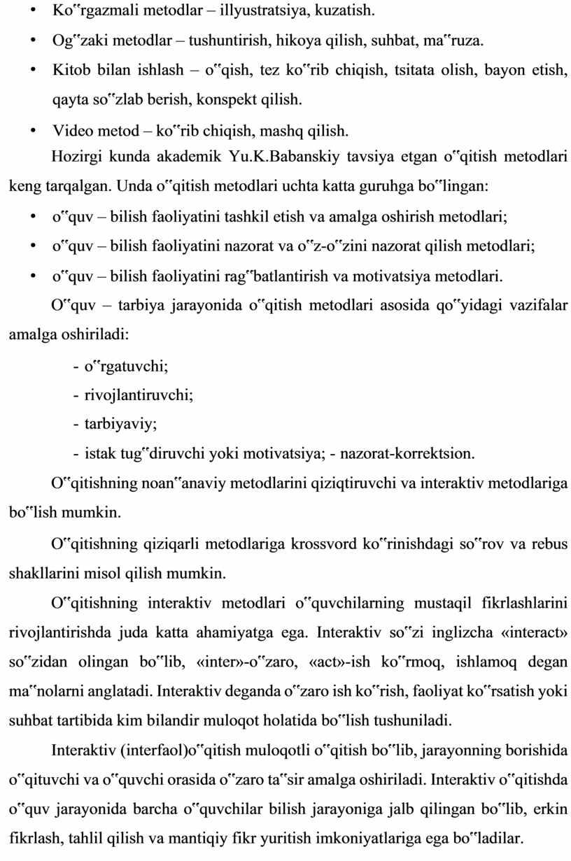 """Ko""""rgazmali metodlar – illyustratsiya, kuzatish"""