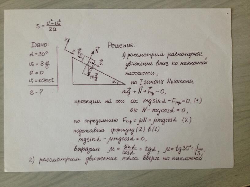 Применение законов Ньютона к решению задач