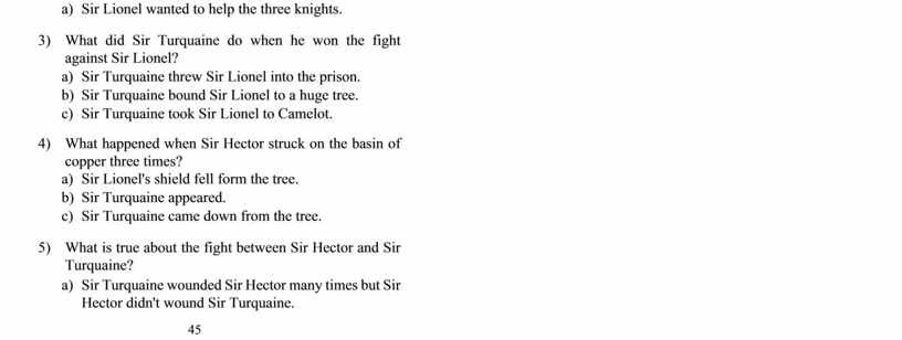 Sir Lionel wanted to help the three knights