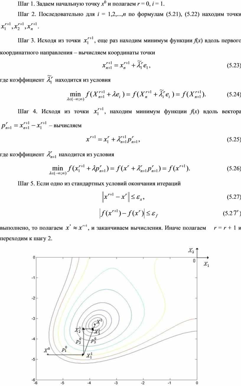 Шаг 1. Задаем начальную точку х 0 и полагаем r = 0, i = 1