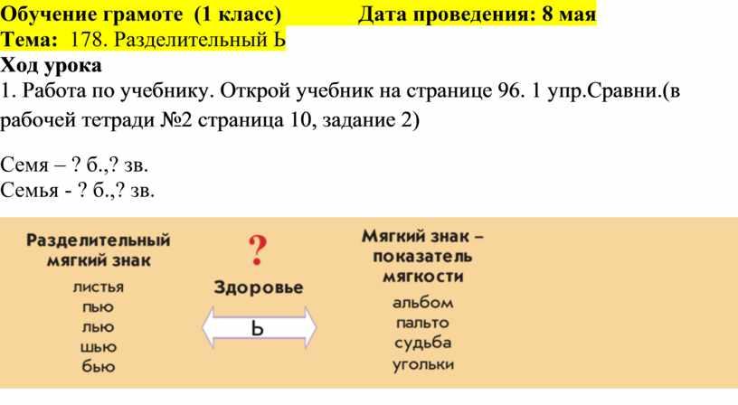 Обучение грамоте (1 класс)
