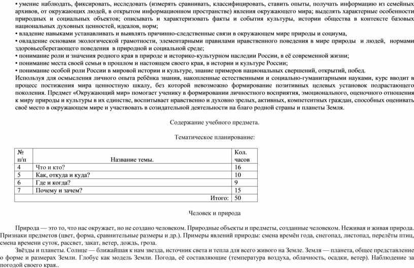России, в её современной жизни; • понимание места своей семьи в прошлом и настоящем своего края, в истории и культуре