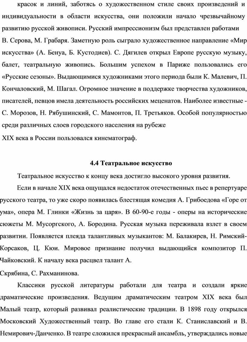 Русский импрессионизм был представлен работами
