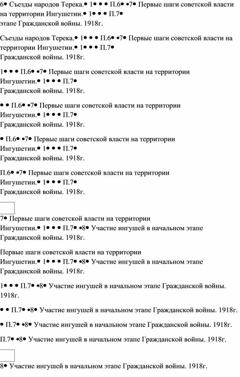 Съезды народов Терека. 1П.6 7