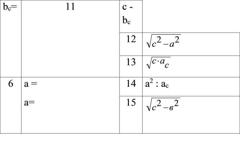 b c = 11 с - b c 12 13 6 a = a= 14 а 2 : а с 15