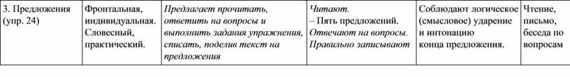 Предложения (упр. 24) Фронтальная, индивидуальная