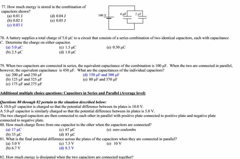 How much energy is stored in the combination of capacitors shown? (a) 0