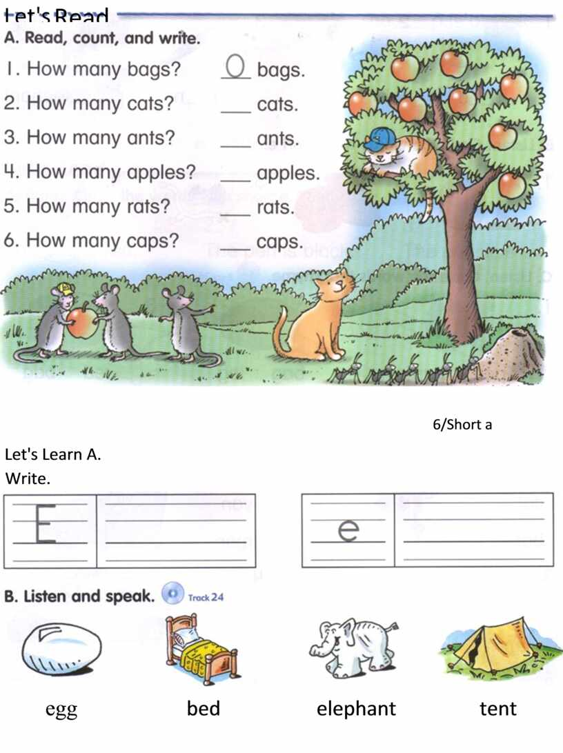 Short a Let's Learn A. Write