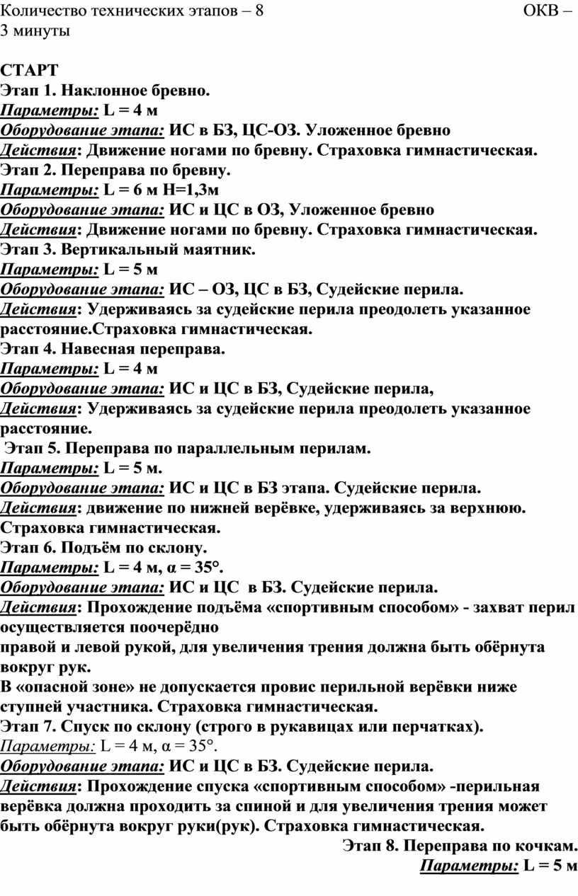 Количество технических этапов – 8