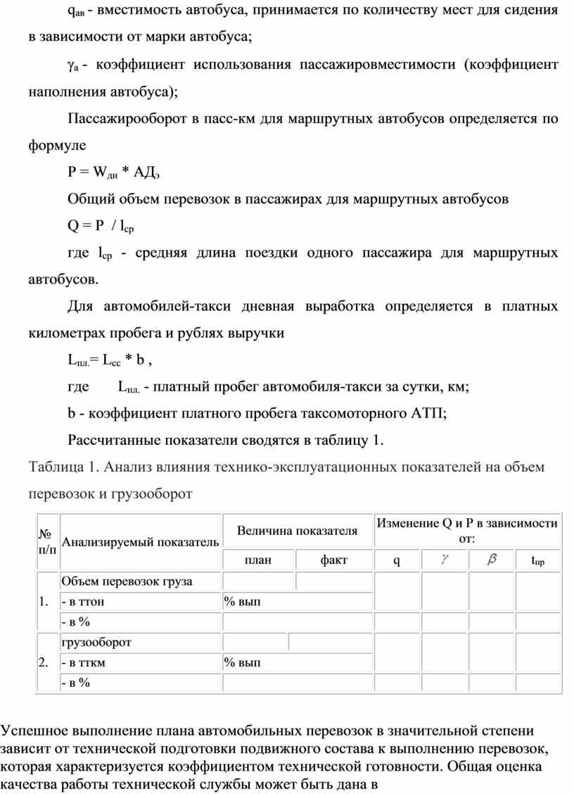 Пассажирооборот в пасс-км для маршрутных автобусов определяется по формуле
