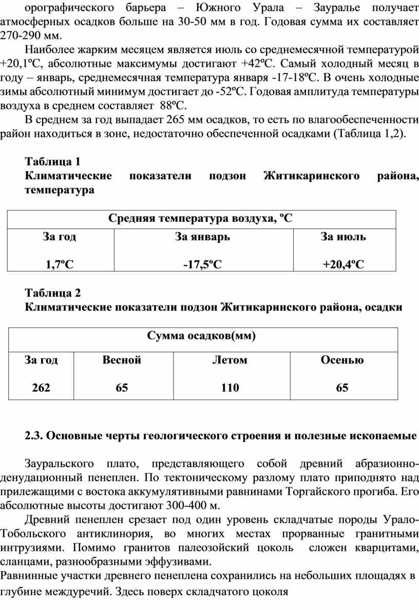 Южного Урала – Зауралье получает атмосферных осадков больше на 30- в год