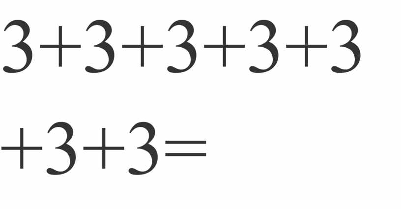 3+3+3+3+3+3+3=