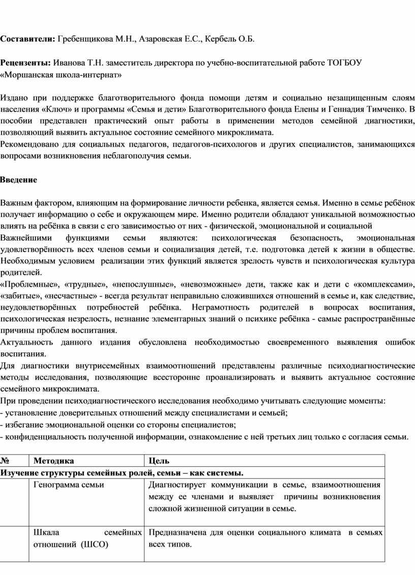 Составители: Гребенщикова М.Н