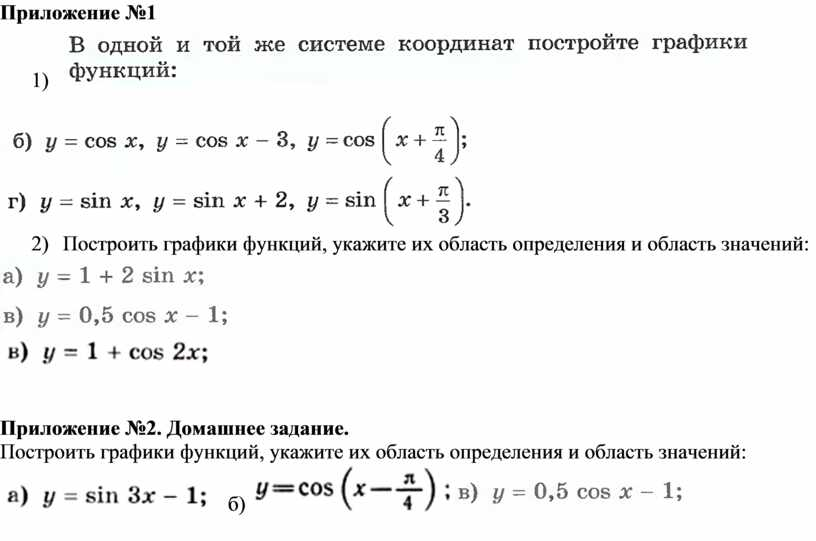 Приложение №1 1) 2)