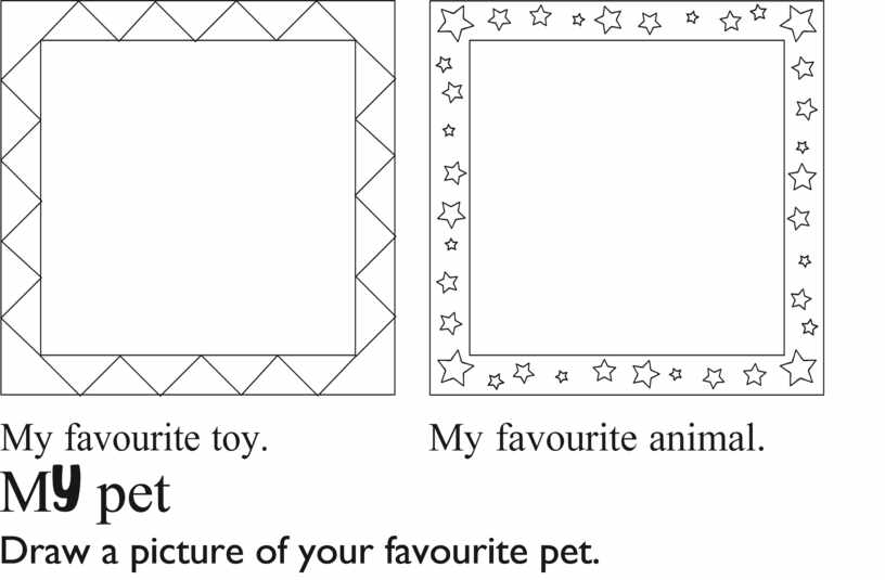 M pet Draw a picture of your favourite pet