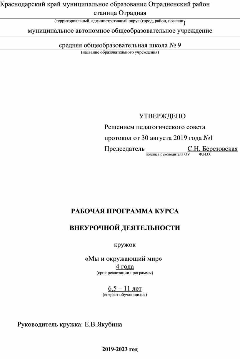 Краснодарский край муниципальное образование