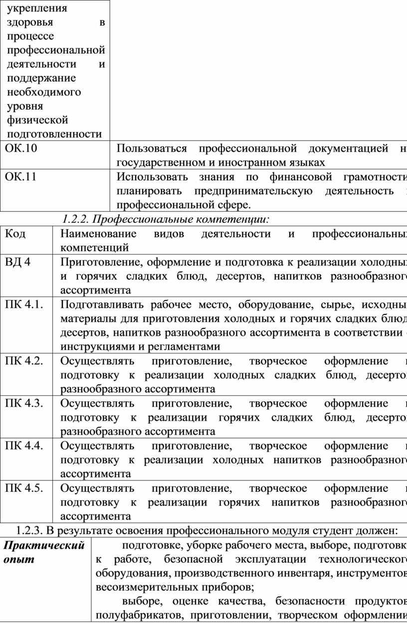 ОК.10 Пользоваться профессиональной документацией на государственном и иностранном языках