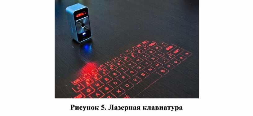 Рисунок 5. Лазерная клавиатура