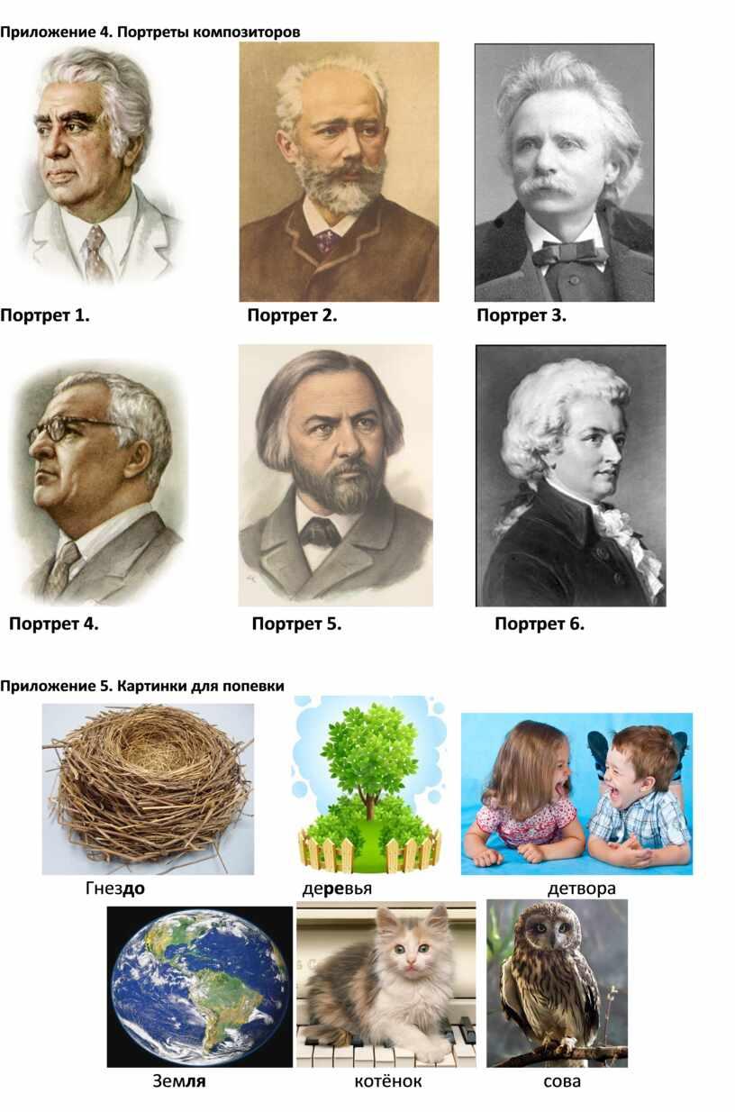Приложение 4. Портреты композиторов