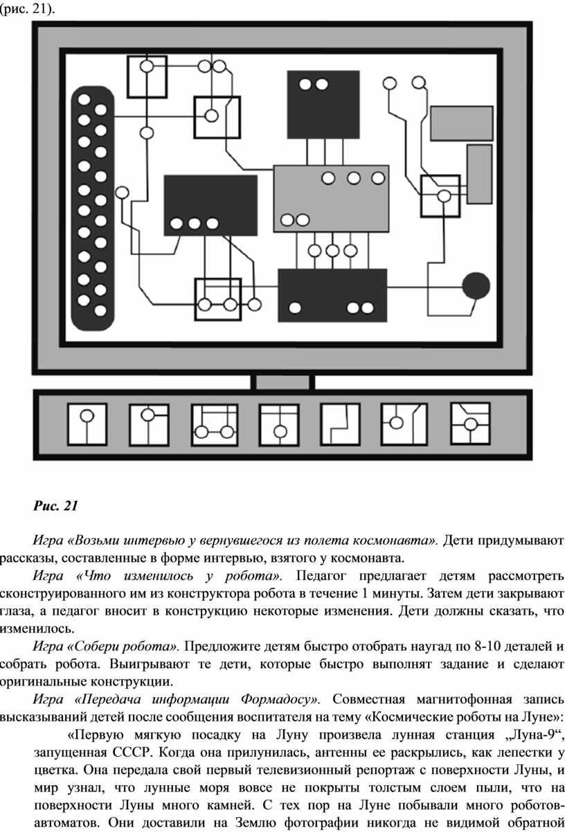Рис. 21 Игра «Возьми интервью у вернувшегося из полета космонавта»