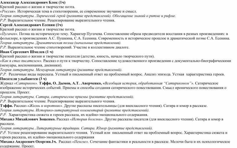 Александр Александрович Блок (1ч)