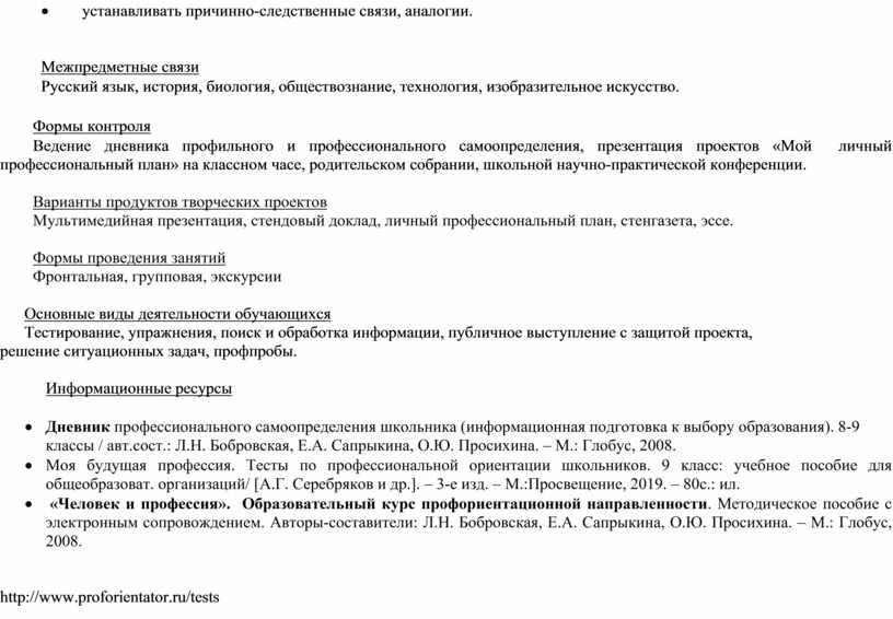Межпредметные связи Русский язык, история, биология, обществознание, технология, изобразительное искусство