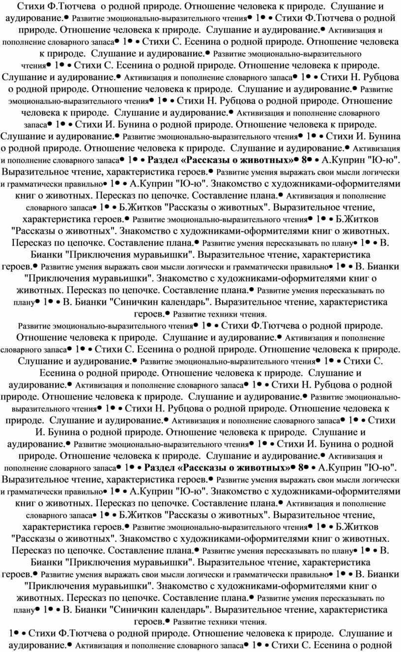 Стихи Ф.Тютчева о родной природе