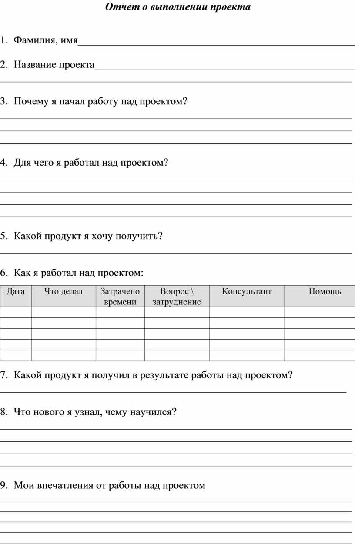 Отчет о выполнении проекта 1