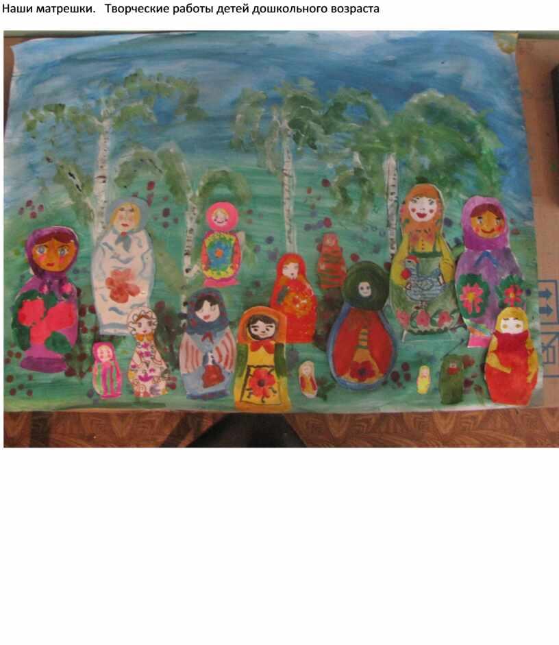 Наши матрешки. Творческие работы детей дошкольного возраста