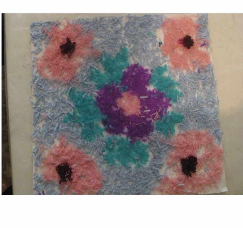Цветочные композиции из  бросового материала.   Творческие работы