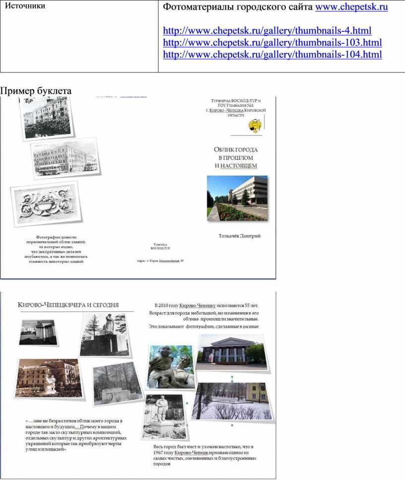 Источники Фотоматериалы городского сайта www