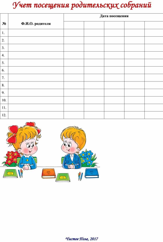 Учет посещения родительских собраний №