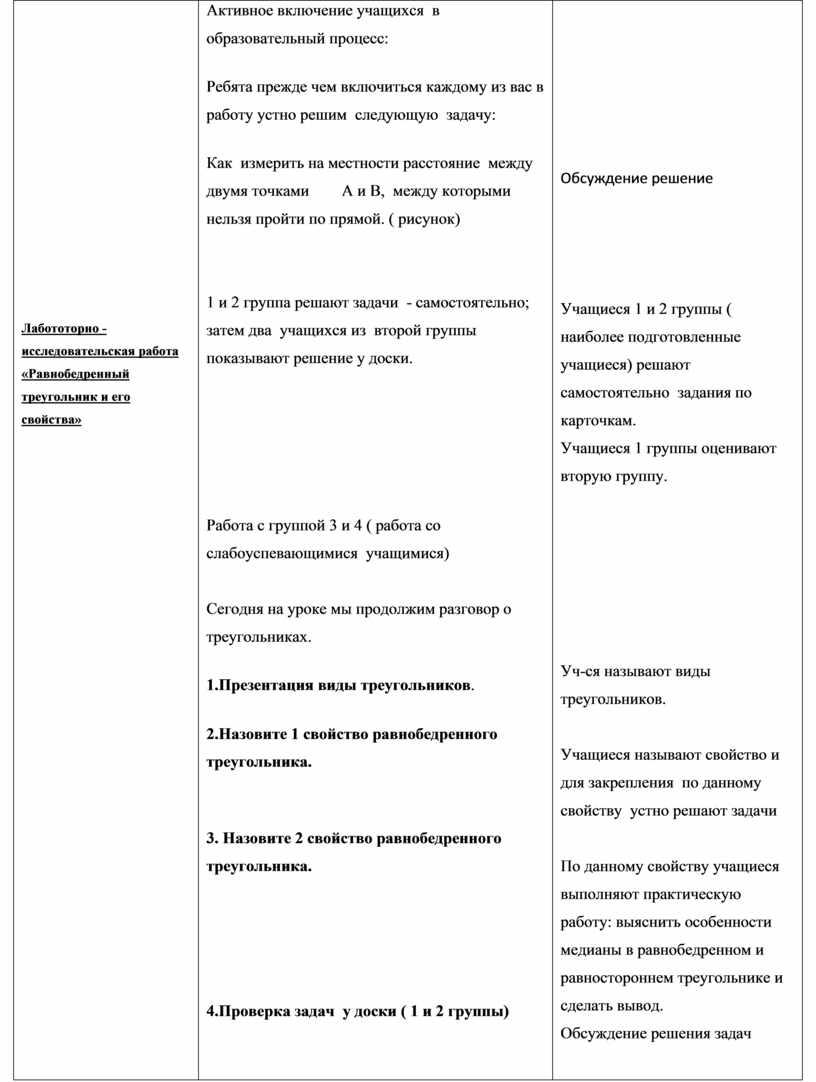 Лабототорно -исследовательская работа «Равнобедренный треугольник и его свойства»