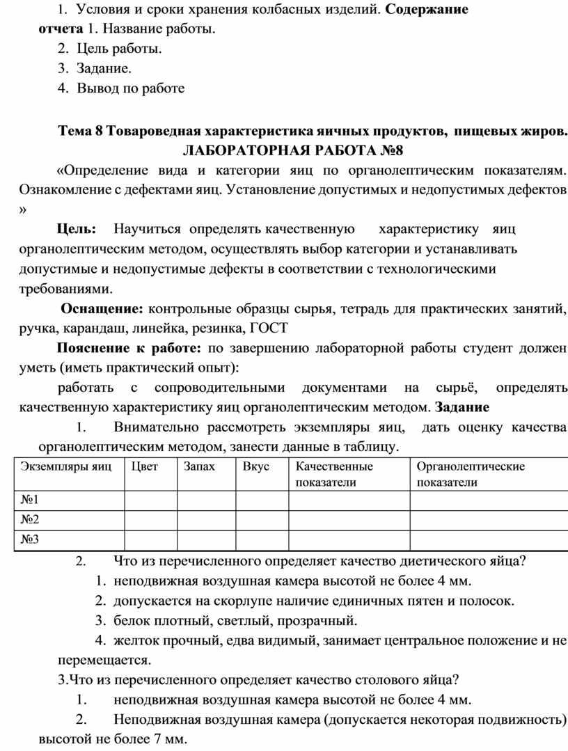 Условия и сроки хранения колбасных изделий