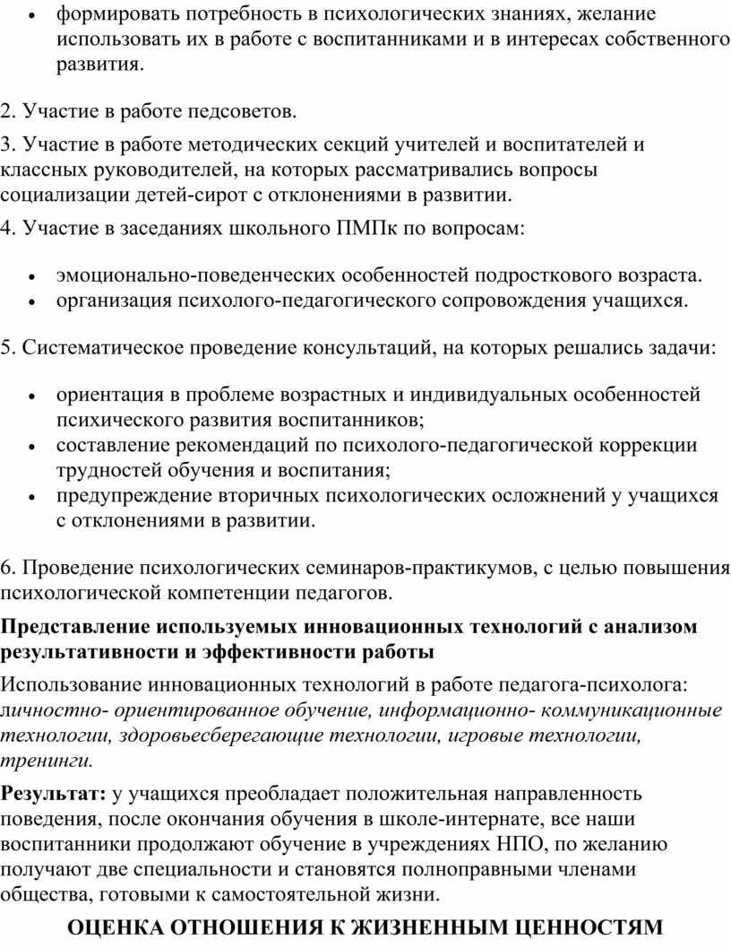 Участие в работе педсоветов. 3