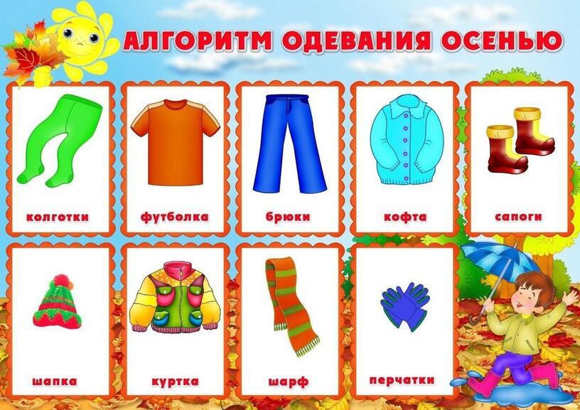 Алгоритм одевания осенью