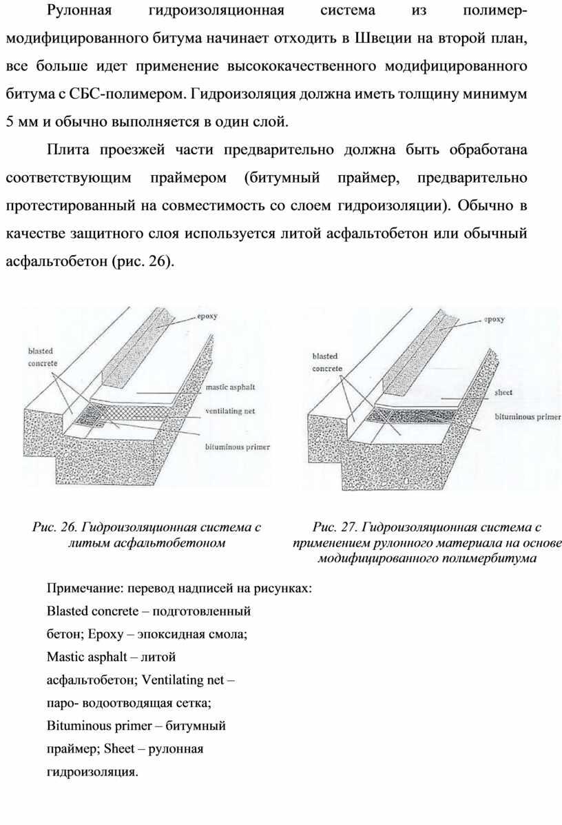 Рулонная гидроизоляционная система из полимер-модифицированного битума начинает отходить в