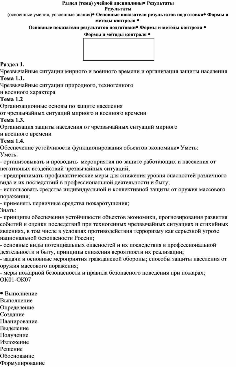 Раздел (тема) учебной дисциплины