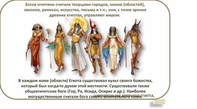 ЦИВИЛИЗАЦИЯ ДРЕВНЕГО ЕГИПТА. БОГИ