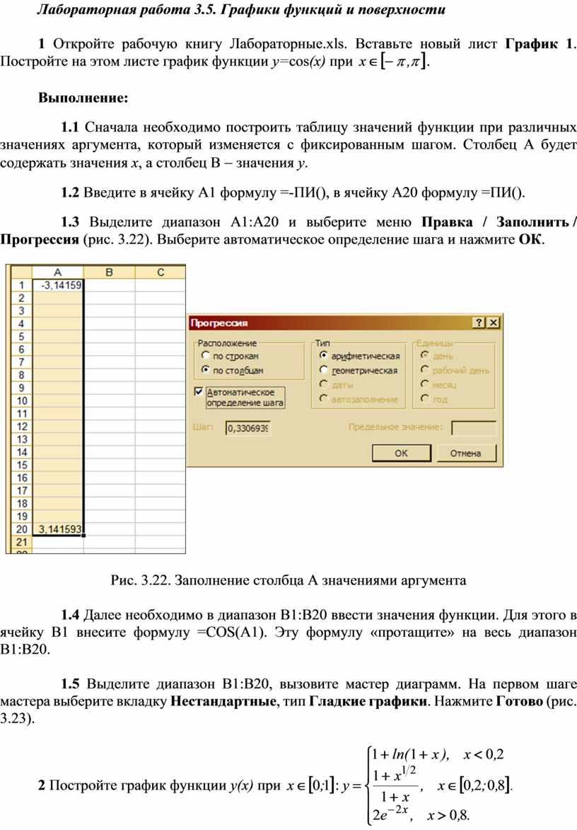Лабораторная работа 3.5. Графики функций и поверхности 1