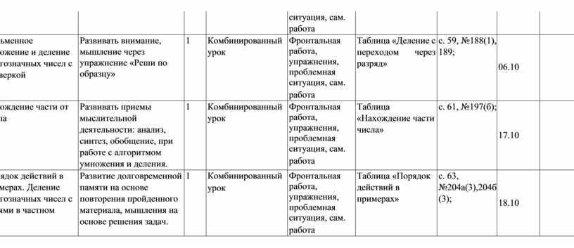 Письменное умножение и деление многозначных чисел с проверкой