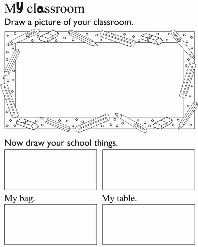 M cl ssroom Draw a picture of your classroom
