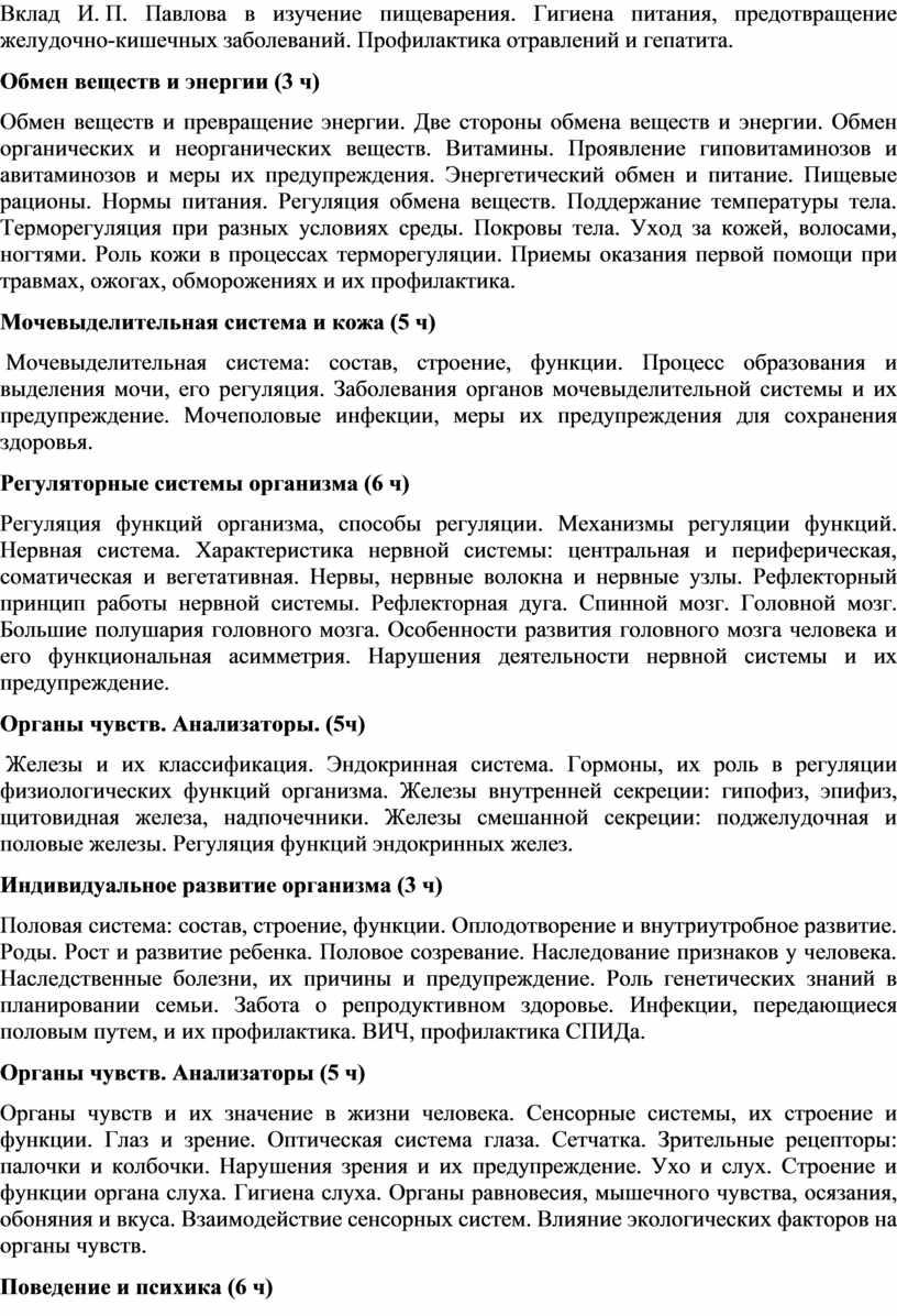 Вклад И. П. Павлова в изучение пищеварения